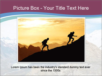 Hiker at the top of a rock PowerPoint Templates - Slide 16