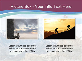 Hiker at the top of a rock PowerPoint Templates - Slide 18