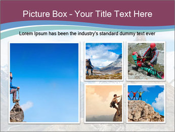 Hiker at the top of a rock PowerPoint Templates - Slide 19