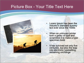 Hiker at the top of a rock PowerPoint Templates - Slide 20