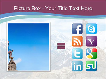 Hiker at the top of a rock PowerPoint Templates - Slide 21