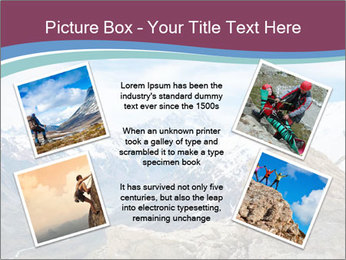 Hiker at the top of a rock PowerPoint Templates - Slide 24