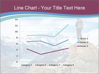 Hiker at the top of a rock PowerPoint Templates - Slide 54