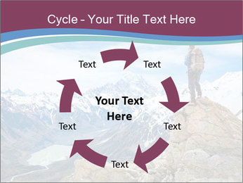 Hiker at the top of a rock PowerPoint Templates - Slide 62