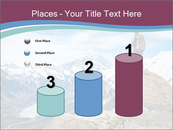 Hiker at the top of a rock PowerPoint Templates - Slide 65