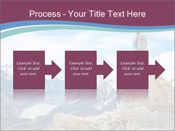 Hiker at the top of a rock PowerPoint Templates - Slide 88