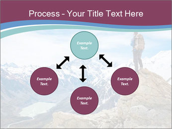 Hiker at the top of a rock PowerPoint Templates - Slide 91