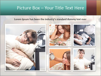 Teenage Boy Waking Up PowerPoint Templates - Slide 19