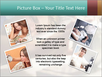 Teenage Boy Waking Up PowerPoint Templates - Slide 24