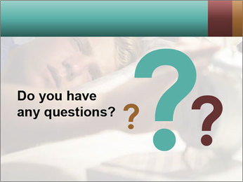Teenage Boy Waking Up PowerPoint Templates - Slide 96