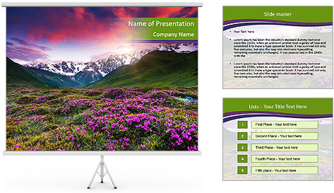 Fantastic colorful sunset PowerPoint Template
