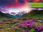 Fantastic colorful sunset PowerPoint Templates