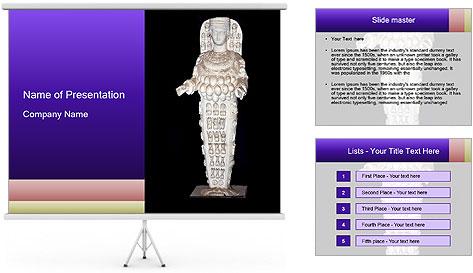 Statue of Artemis PowerPoint Template