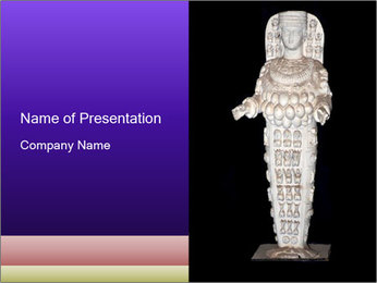 Statue of Artemis PowerPoint Template - Slide 1