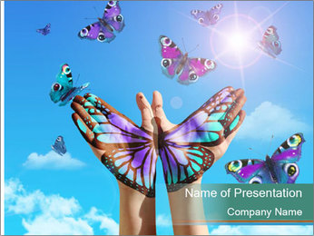 Concept for spiritual symbol of soul PowerPoint Template
