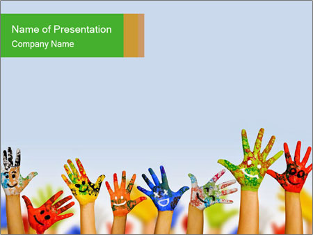 Image of human hands PowerPoint Templates
