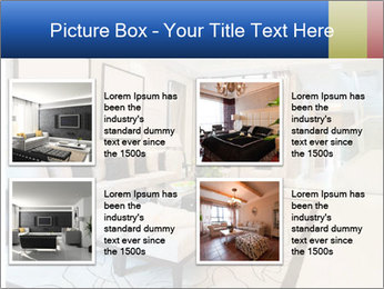 Luxury living room with nice decoration PowerPoint Template - Slide 14
