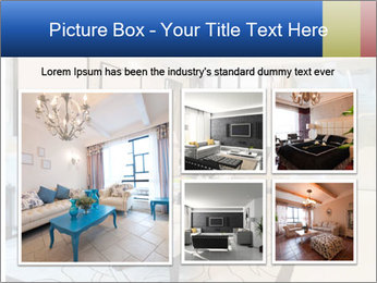 Luxury living room with nice decoration PowerPoint Templates - Slide 19