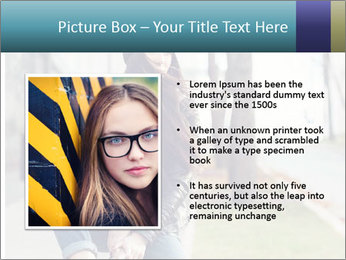 Portrait of a beautiful girl hipster PowerPoint Templates - Slide 13