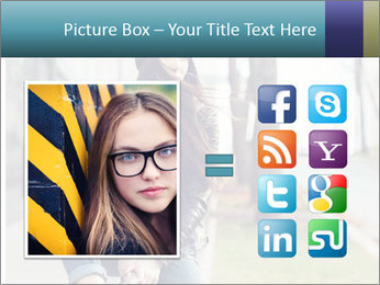 Portrait of a beautiful girl hipster PowerPoint Templates - Slide 21