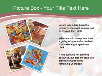 Monk receiving food PowerPoint Templates - Slide 23