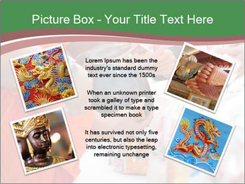Monk receiving food PowerPoint Templates - Slide 24