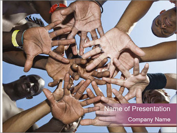 A group of mixed race PowerPoint Template