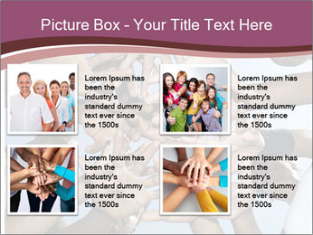 A group of mixed race PowerPoint Template - Slide 14