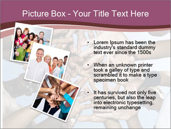 A group of mixed race PowerPoint Template - Slide 17