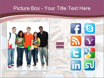 A group of mixed race PowerPoint Template - Slide 21