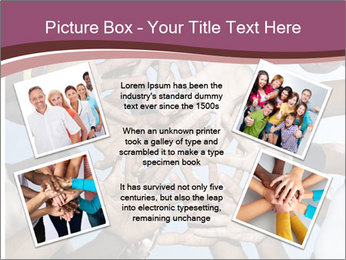 A group of mixed race PowerPoint Template - Slide 24
