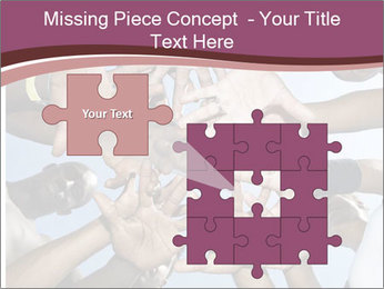 A group of mixed race PowerPoint Template - Slide 45
