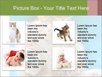Funny lazy red cat in Santa Claus hat PowerPoint Template - Slide 14