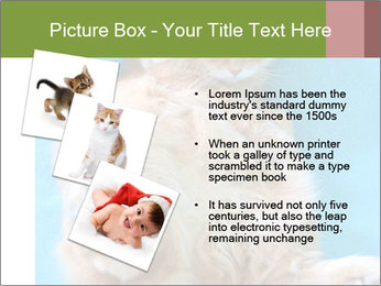 Funny lazy red cat in Santa Claus hat PowerPoint Template - Slide 17