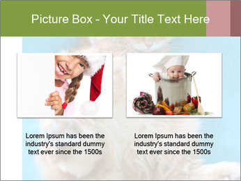 Funny lazy red cat in Santa Claus hat PowerPoint Template - Slide 18