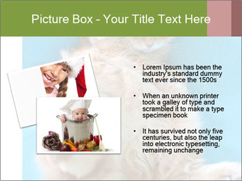 Funny lazy red cat in Santa Claus hat PowerPoint Template - Slide 20
