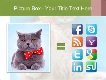Funny lazy red cat in Santa Claus hat PowerPoint Template - Slide 21