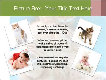 Funny lazy red cat in Santa Claus hat PowerPoint Template - Slide 24
