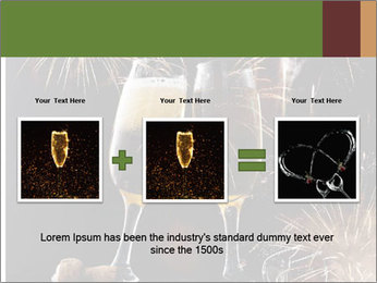 Two glasses of champagne PowerPoint Templates - Slide 22