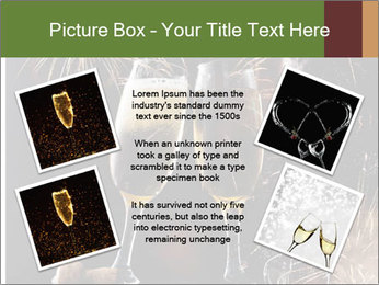 Two glasses of champagne PowerPoint Template - Slide 24