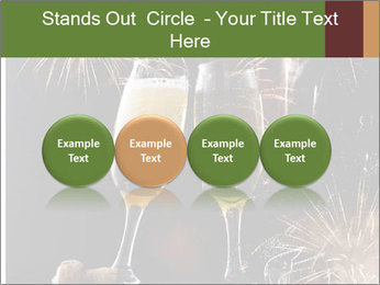 Two glasses of champagne PowerPoint Templates - Slide 76
