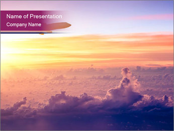 Airplane in the sky PowerPoint Templates - Slide 1