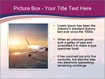 Airplane in the sky PowerPoint Templates - Slide 13