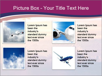 Airplane in the sky PowerPoint Templates - Slide 14