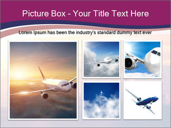 Airplane in the sky PowerPoint Templates - Slide 19