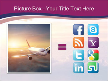 Airplane in the sky PowerPoint Templates - Slide 21