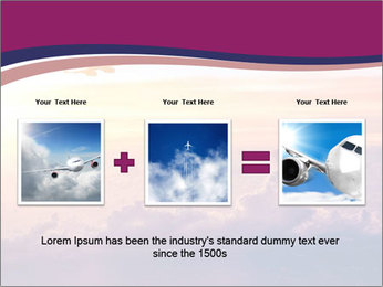 Airplane in the sky PowerPoint Templates - Slide 22