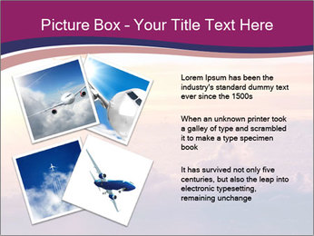 Airplane in the sky PowerPoint Templates - Slide 23