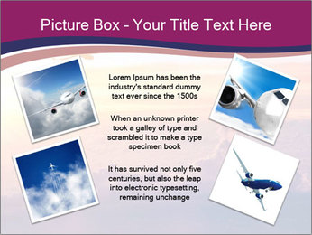 Airplane in the sky PowerPoint Templates - Slide 24