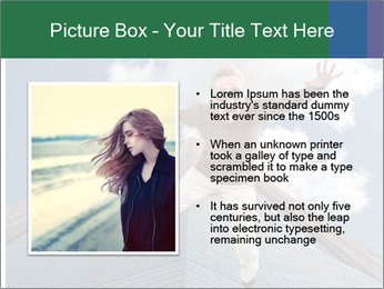A woman falling PowerPoint Template - Slide 13